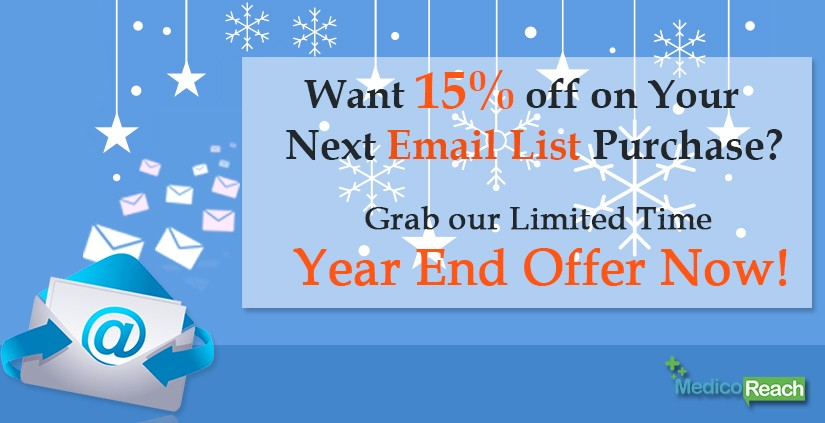 MedicoReach Announces Eye-popping Year-end Offer on All Healthcare Email Lists