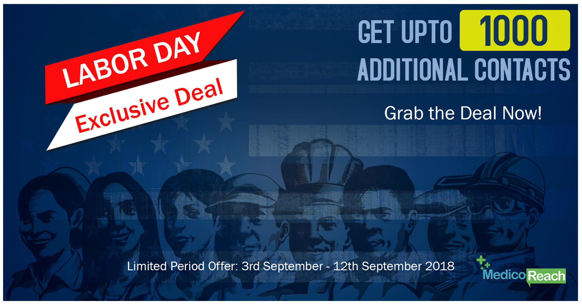 Labor Day Offer: MedicoReach Offers Up to 1000 Additional Contacts on Healthcare List Purchase